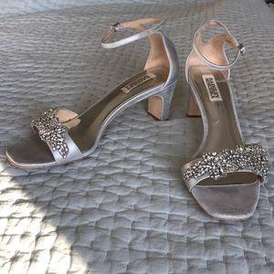 Badgley Mischka Alison Silver Heel Sandal 9